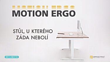 OFFICE PRO – Stůl Hobis Motion Ergo